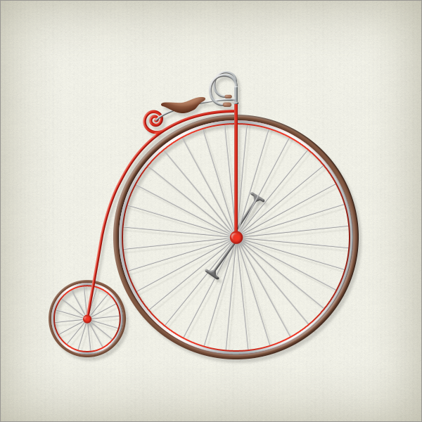 Penny Farthing Bicycle Illustration